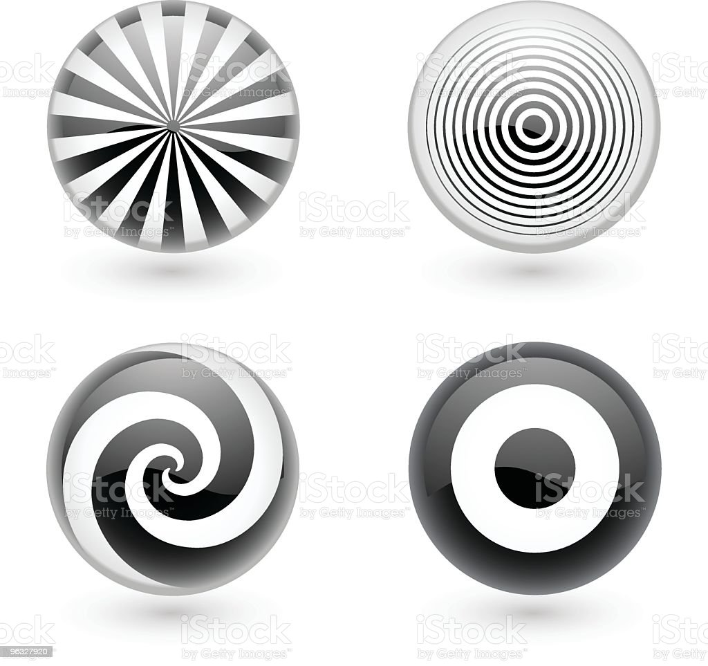 Spiral and target icons royalty-free stock vector art