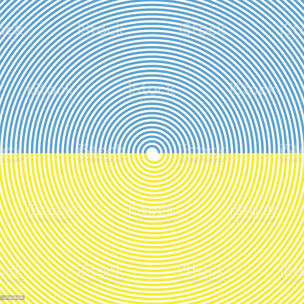 Spiral Background. Sky And Sand Beach. Summer Colors. Vector vector art illustration