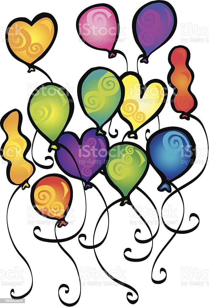 Spiral Ballons royalty-free stock vector art