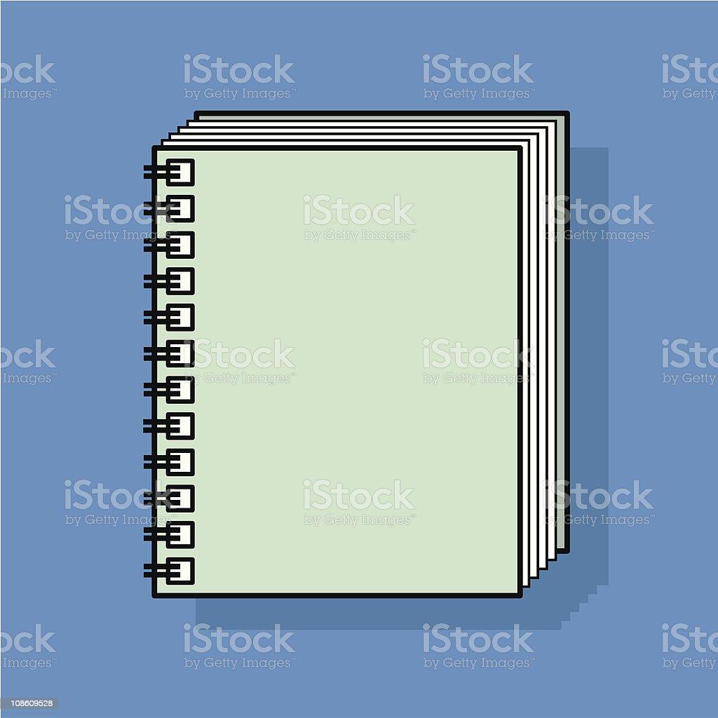 spiral bound notebook royalty-free stock vector art
