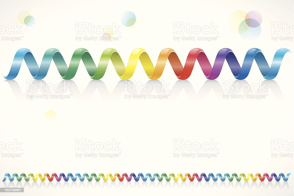 Spiral Colorful Cable vector art illustration