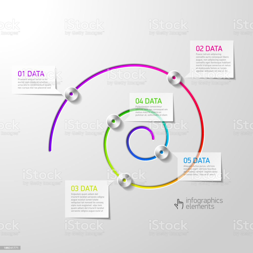 Spiral diagram infographics element vector art illustration