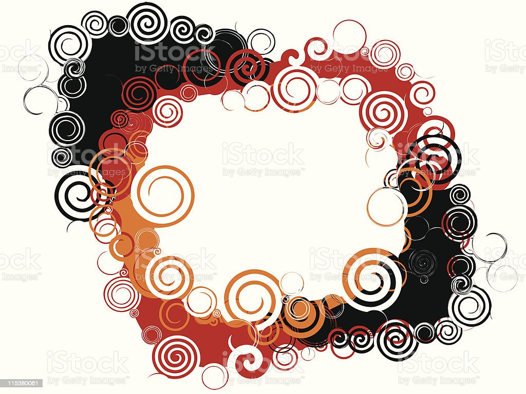 spiral frame royalty-free stock vector art