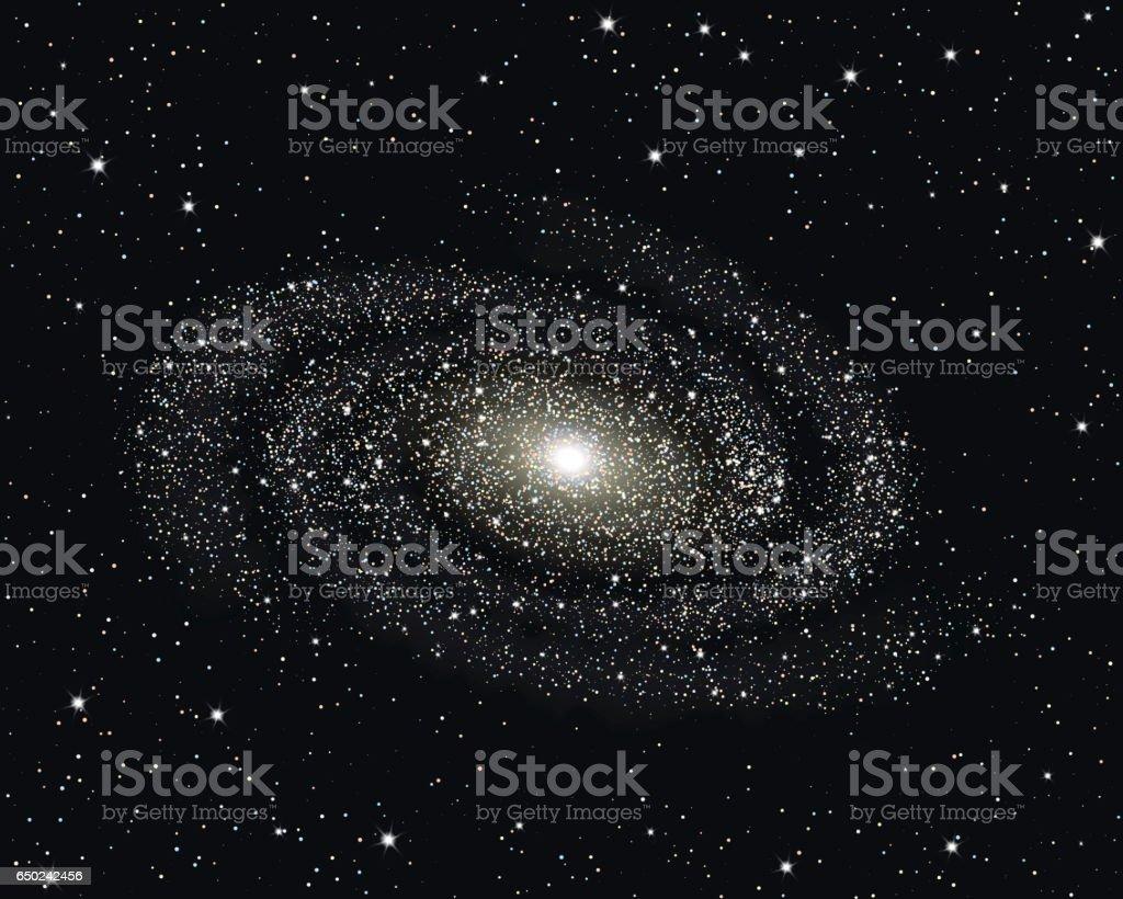 Spiral Galaxy vector illustration. vector art illustration