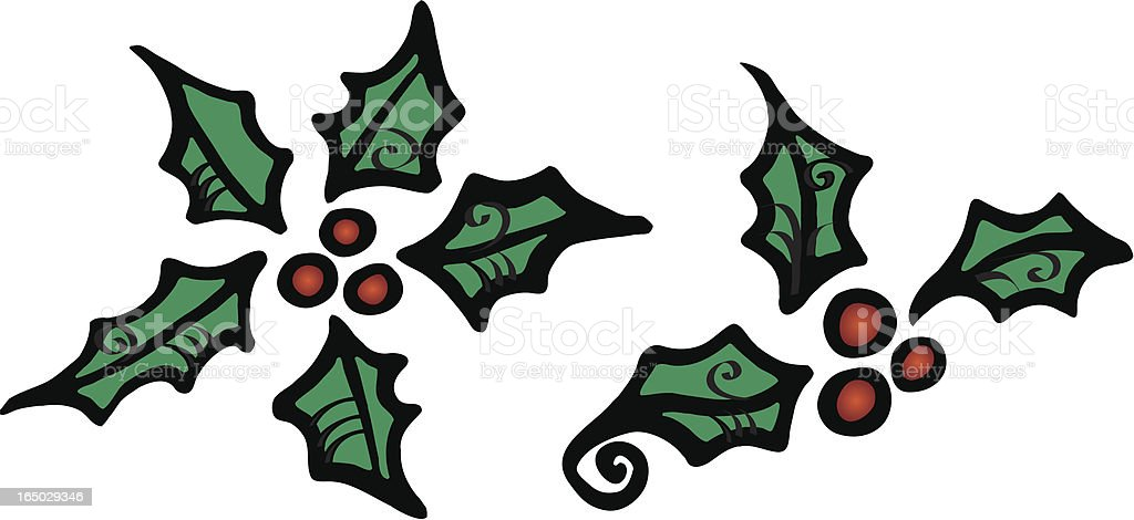 Spiral Holly royalty-free stock vector art