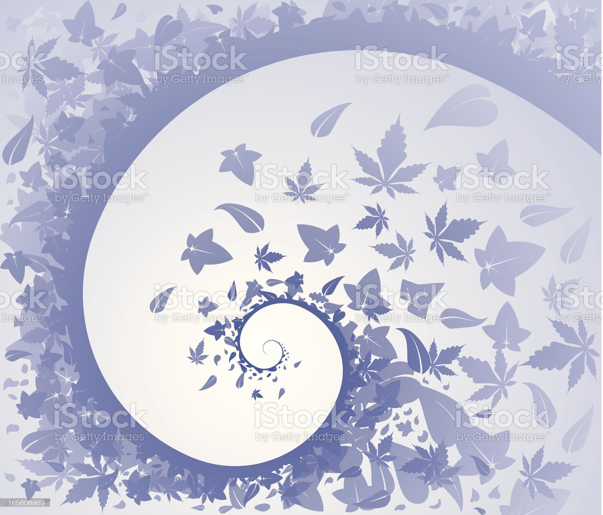 Spiral Leaves royalty-free stock vector art