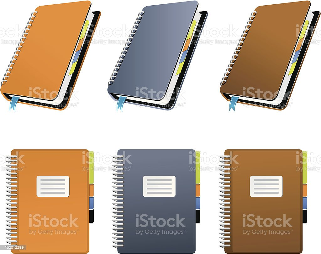 Spiral Notebook royalty-free stock vector art