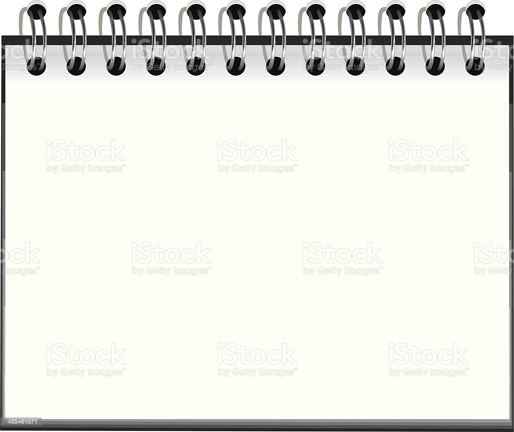 Spiral notebook royalty-free stock vector art