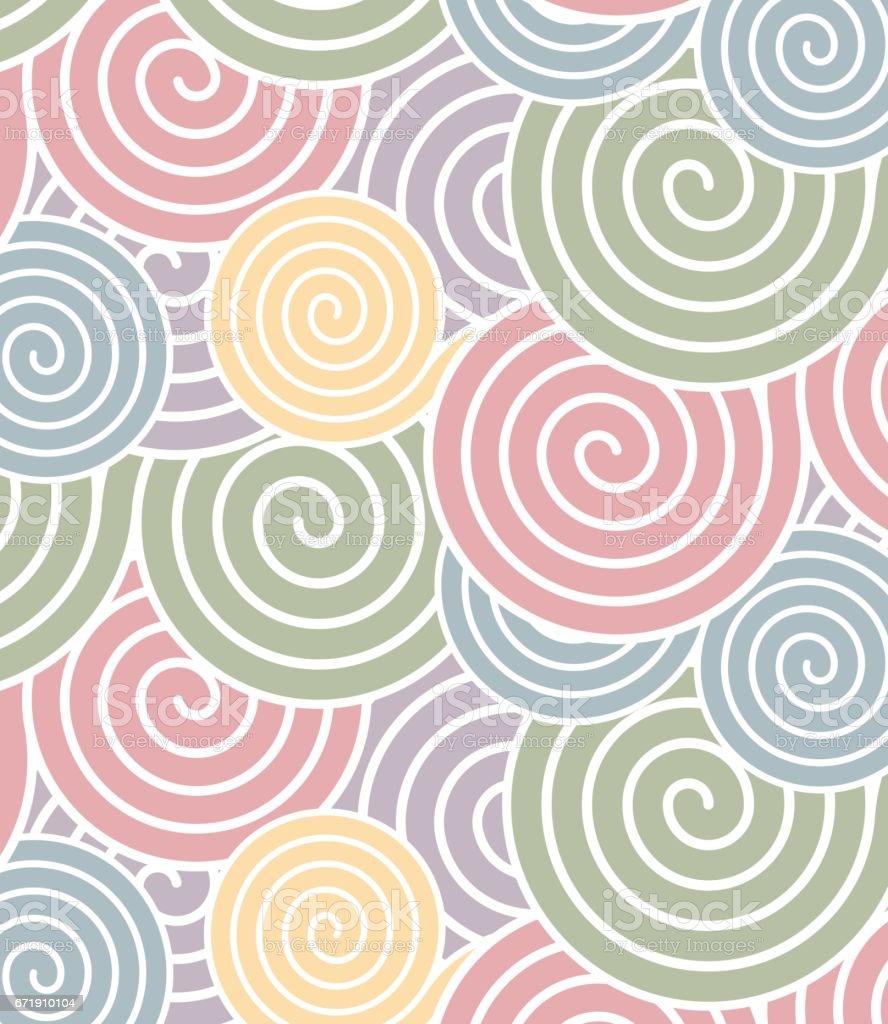 spiral pattern vector art illustration