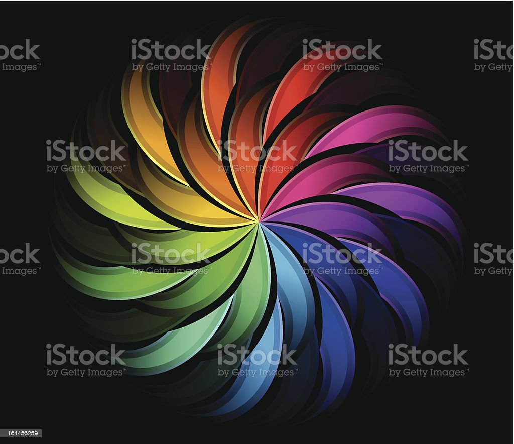 Spiral rainbow swirl royalty-free stock vector art