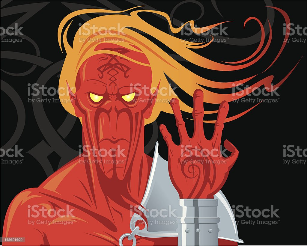 Spirit of fire (Salamander) royalty-free stock vector art