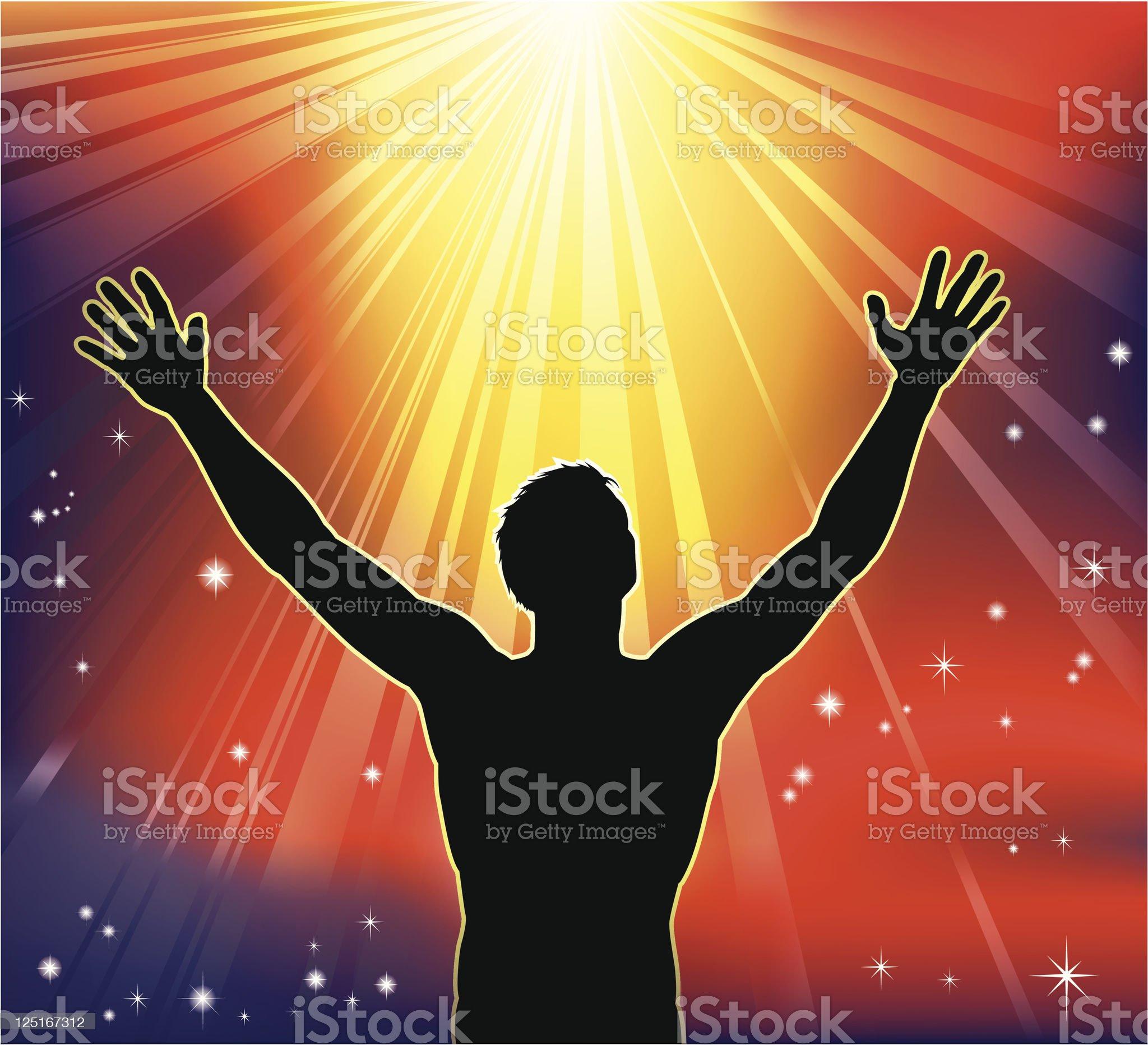 Spiritual joy royalty-free stock vector art