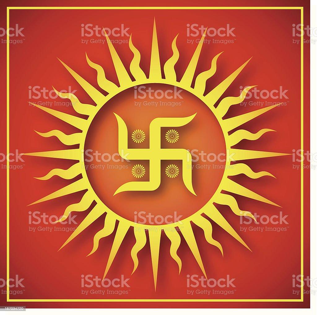 Spiritual Swastika Design royalty-free stock photo