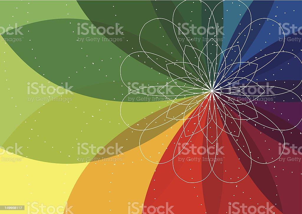 Spiro flower background vector art illustration
