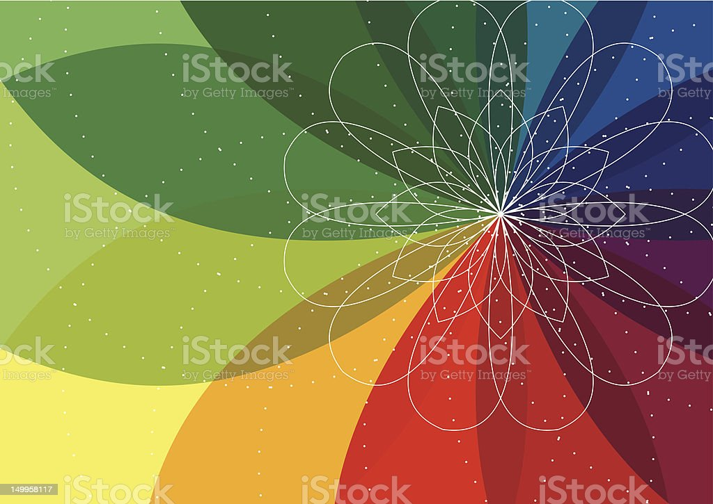 Spiro flower background vector art illustration