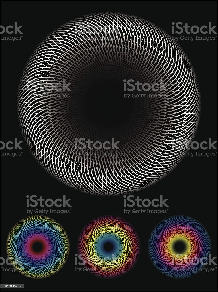 Spirograph image royalty-free stock vector art