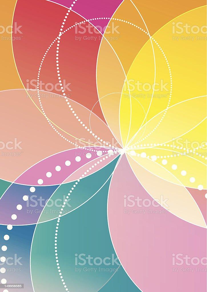 Spirograph  rainbow background royalty-free stock vector art