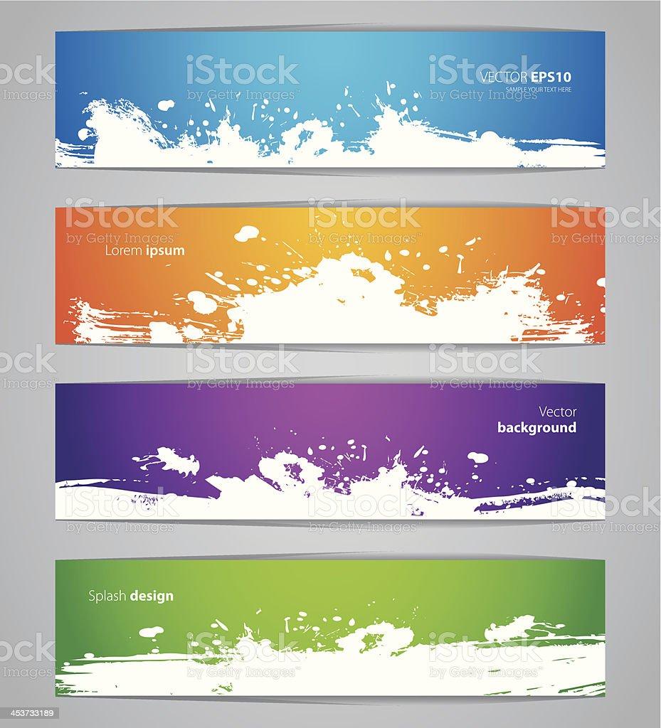 Splash designs set vector art illustration