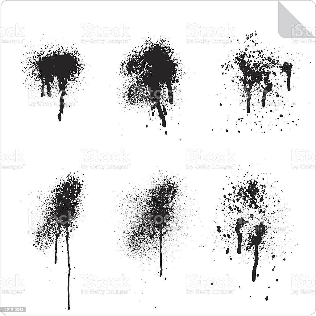 Splash Grunges vector art illustration
