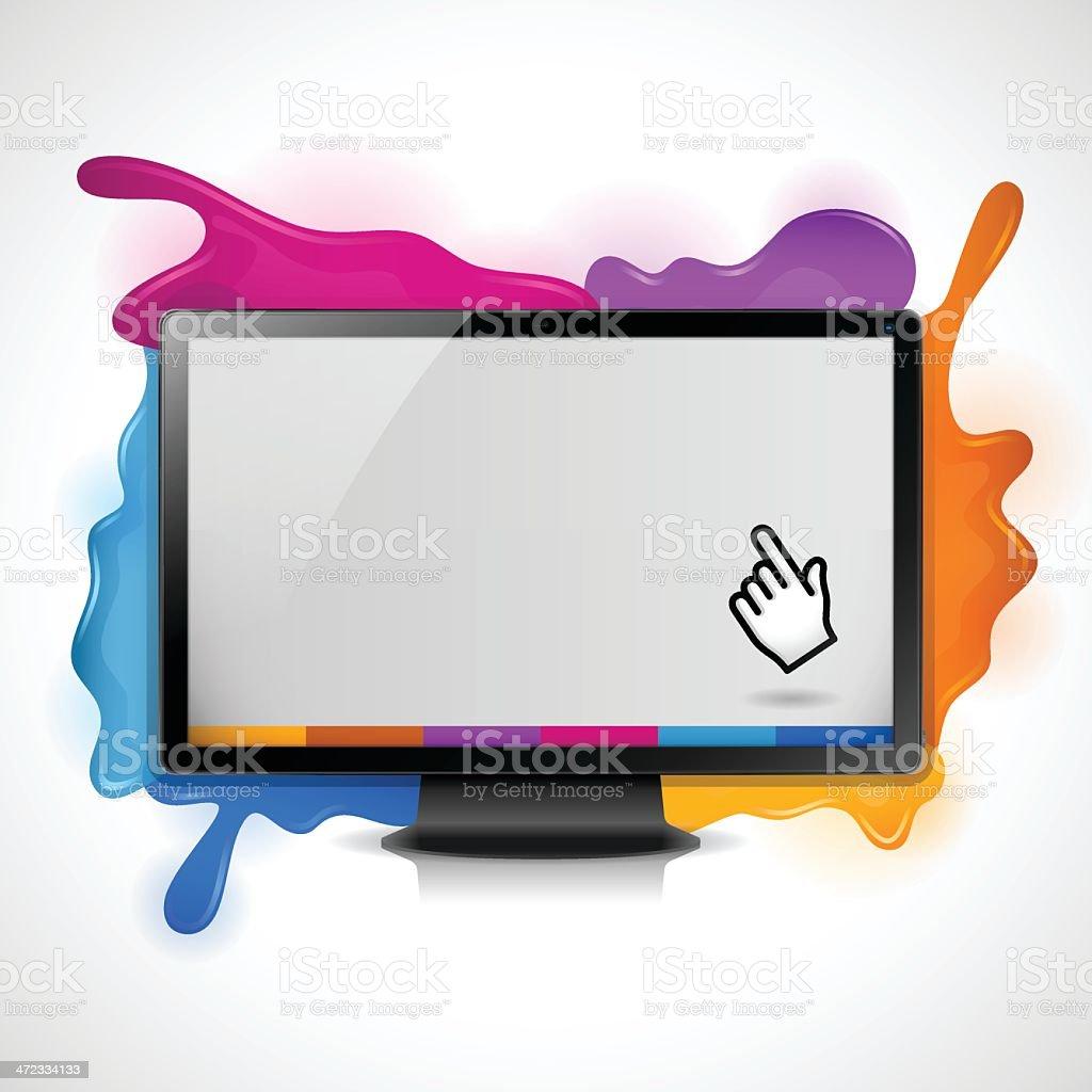 Splash Tech Screen royalty-free stock vector art