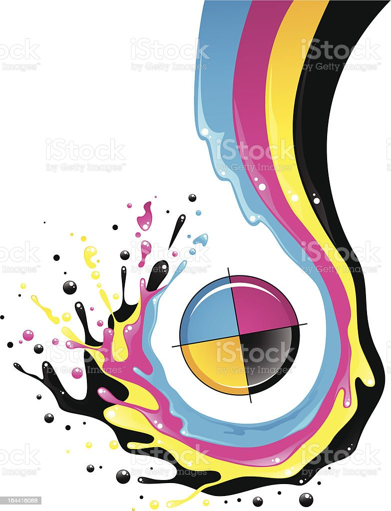 CMYK splash vector graphic illustration vector art illustration