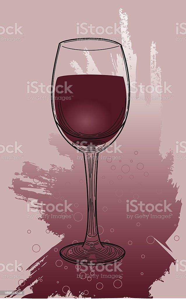Splashy Red Wine royalty-free stock vector art