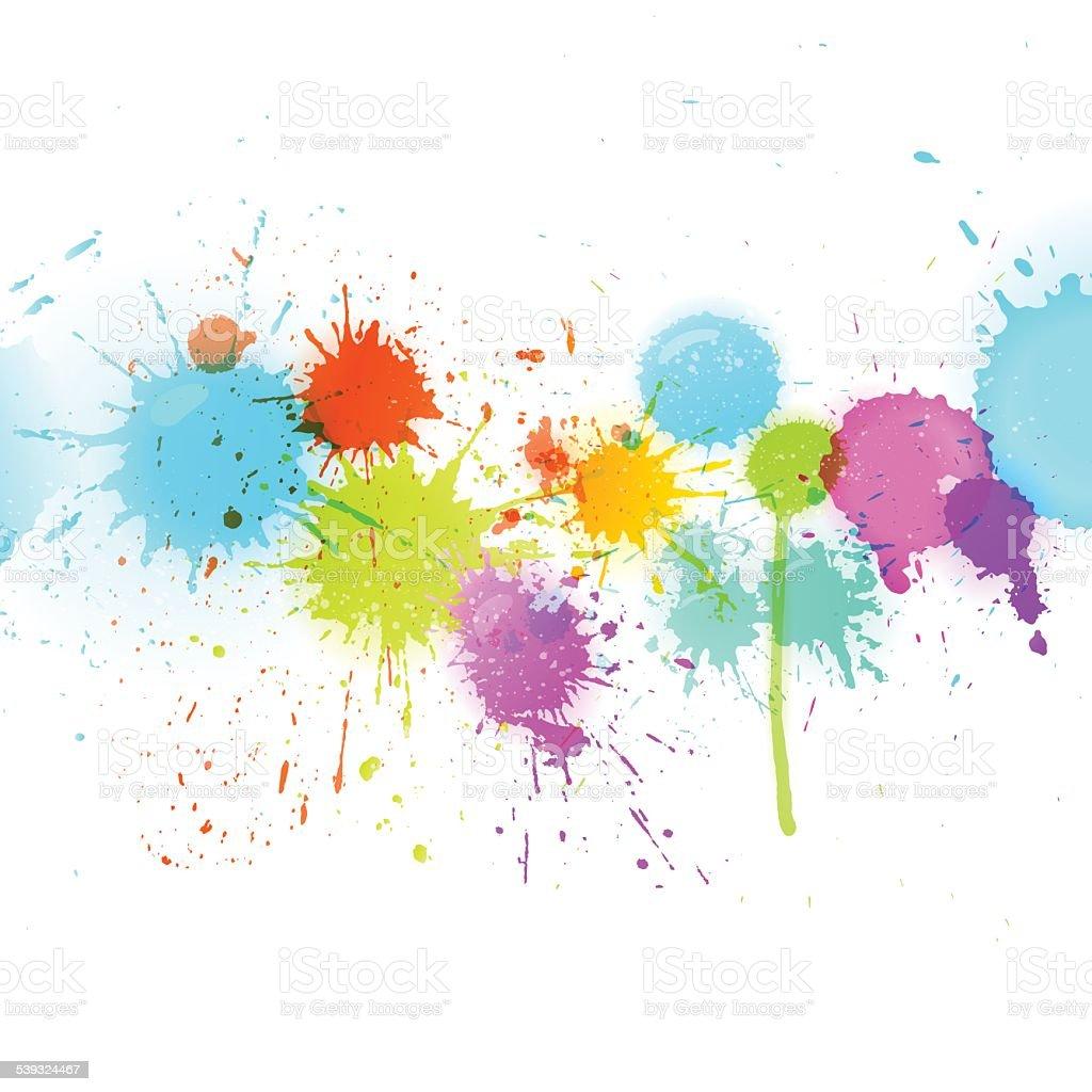 Splat Background vector art illustration