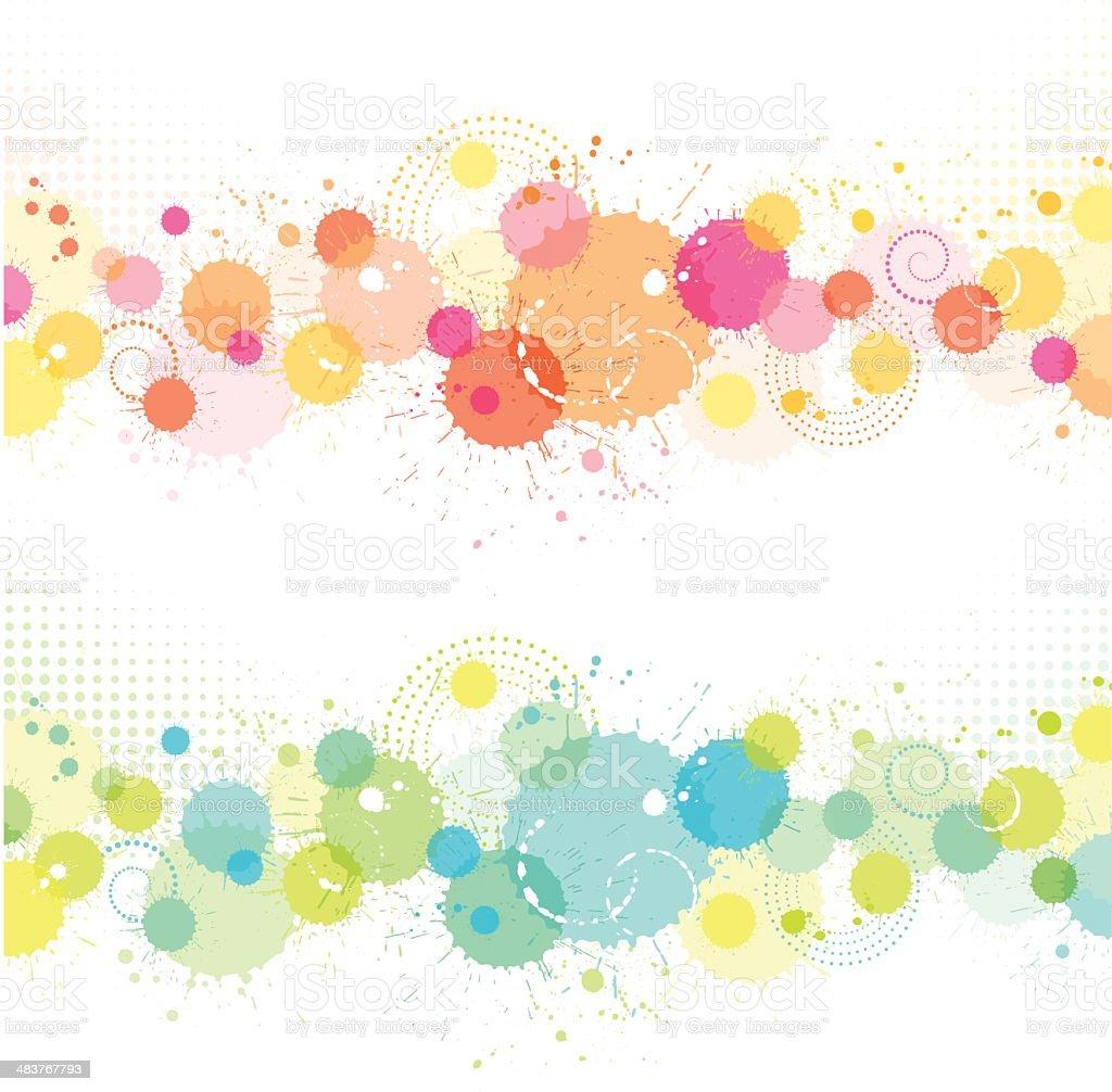 Splat Backgrounds royalty-free stock vector art