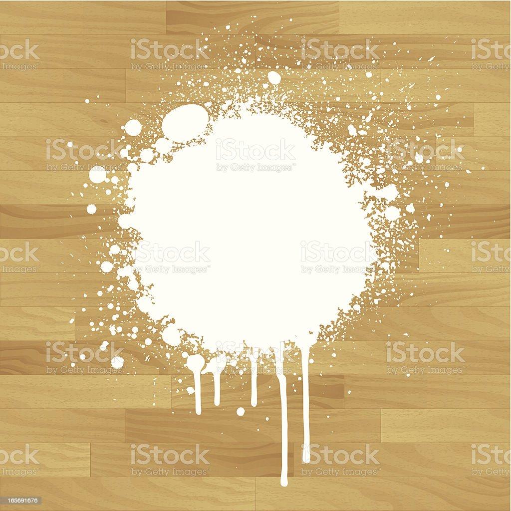 Splat on wood royalty-free stock vector art