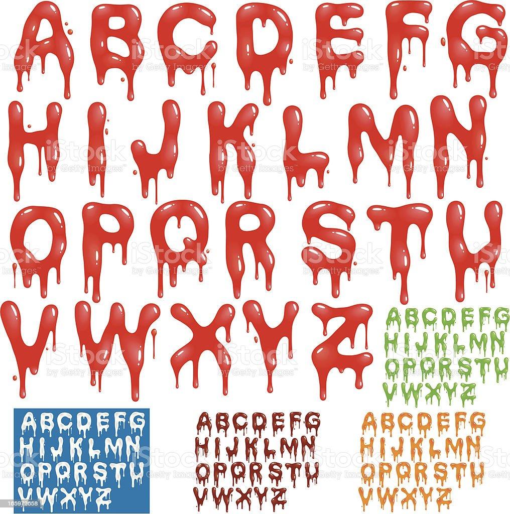 Splatter Alphabet vector art illustration