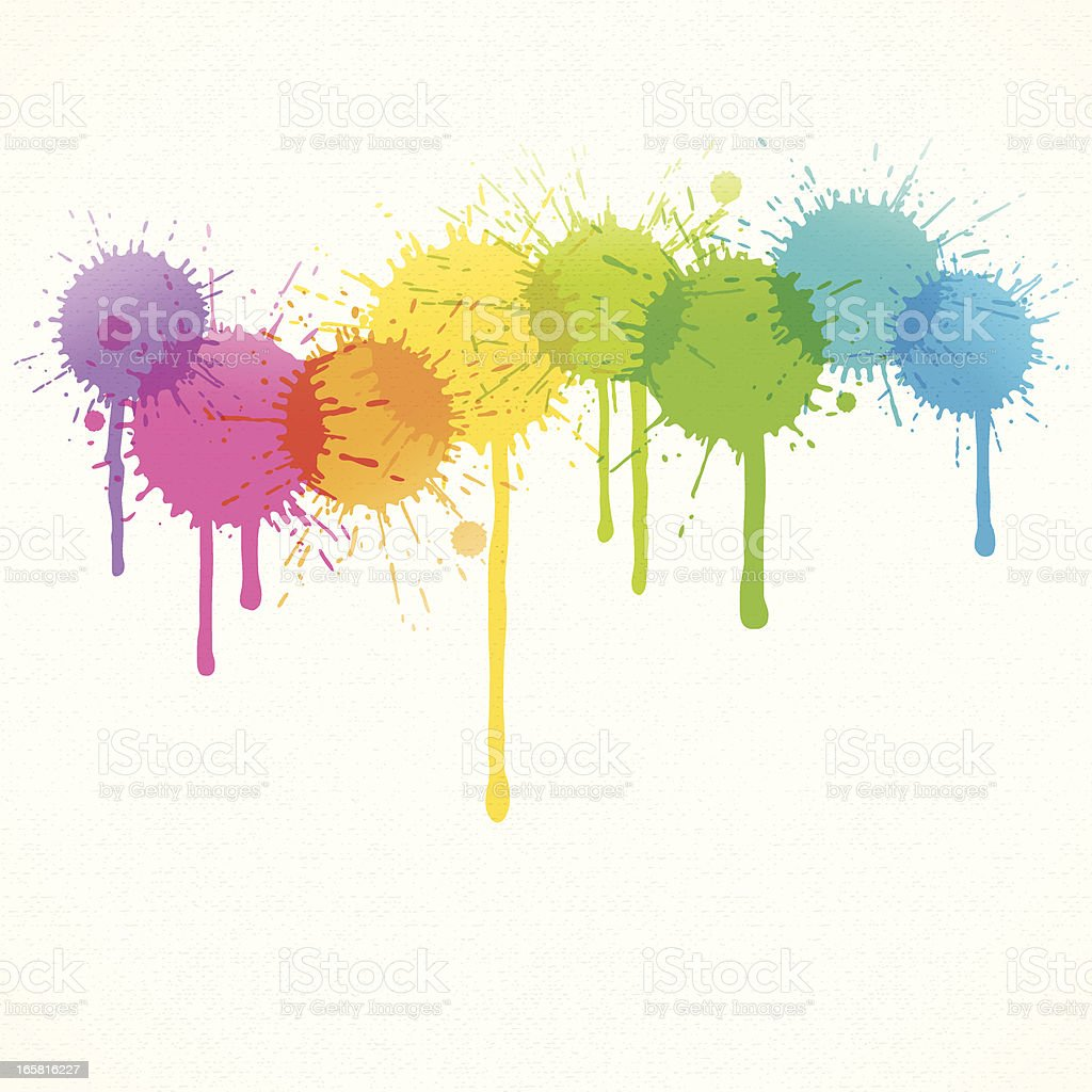 Splatter Background vector art illustration