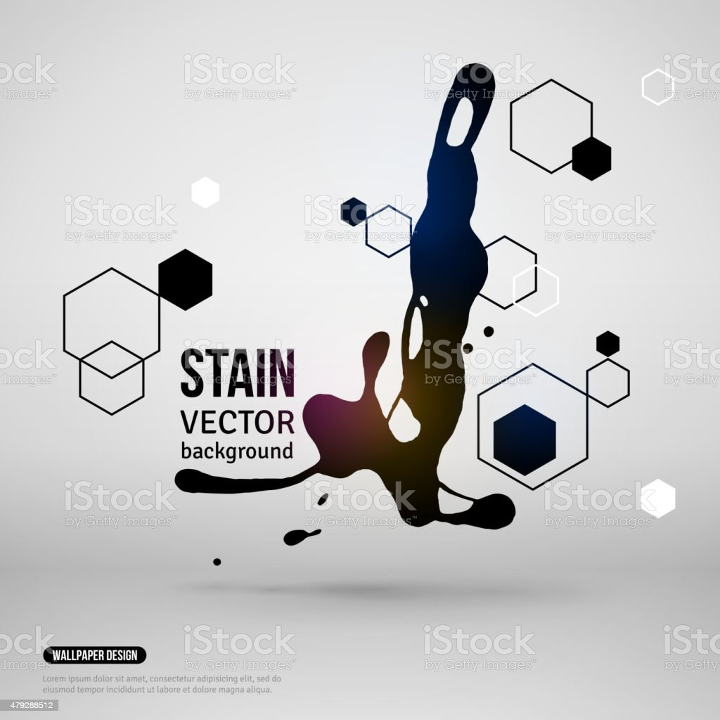 Splatter Paint Banner. Vector Illustration. vector art illustration