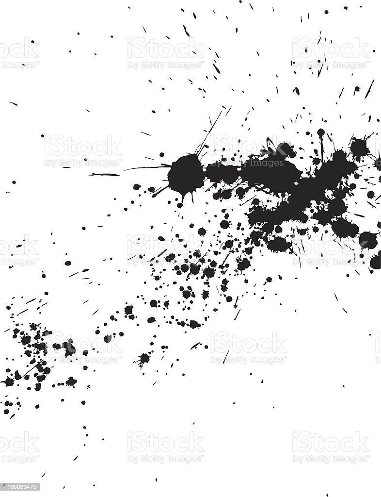 Splatter royalty-free stock vector art