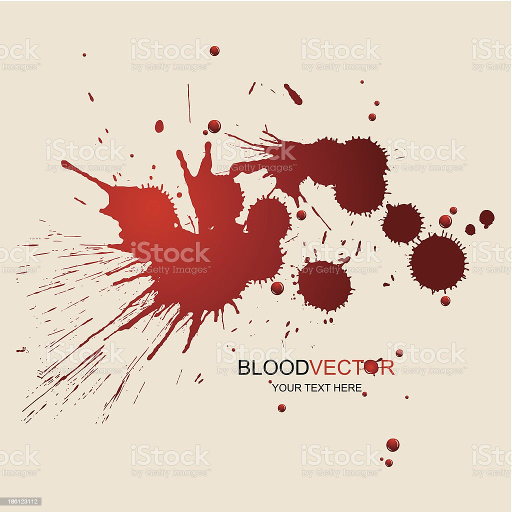 Splattered illustrated blood stained design vector art illustration