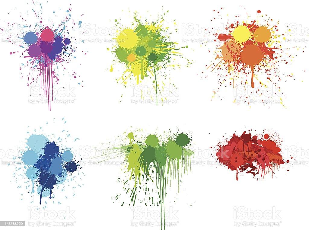 Splattered Paints vector art illustration