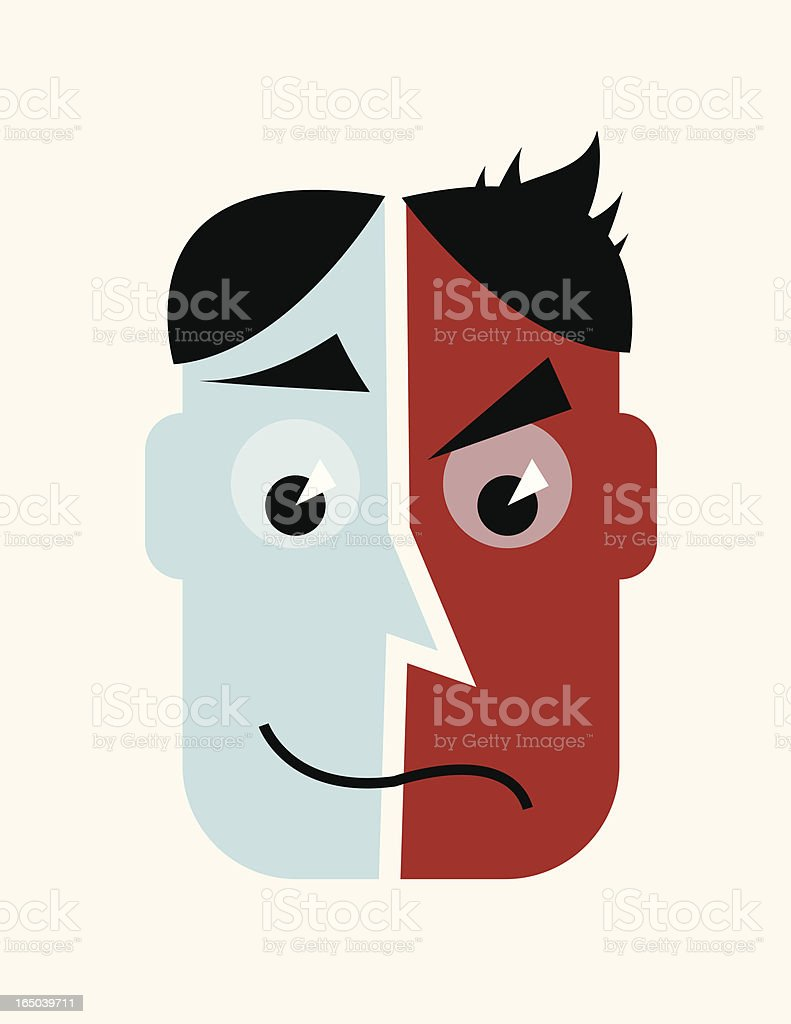 Split Personality royalty-free stock vector art