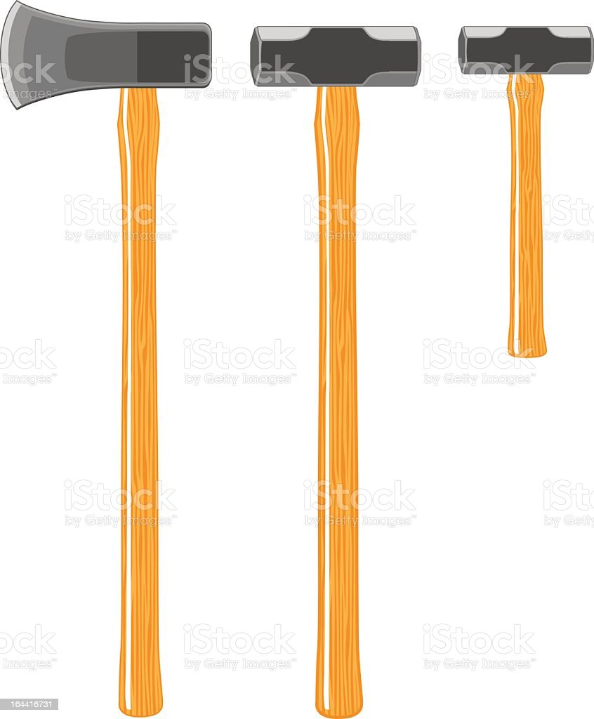 Splitting Maul and Sledge Hammers royalty-free stock vector art