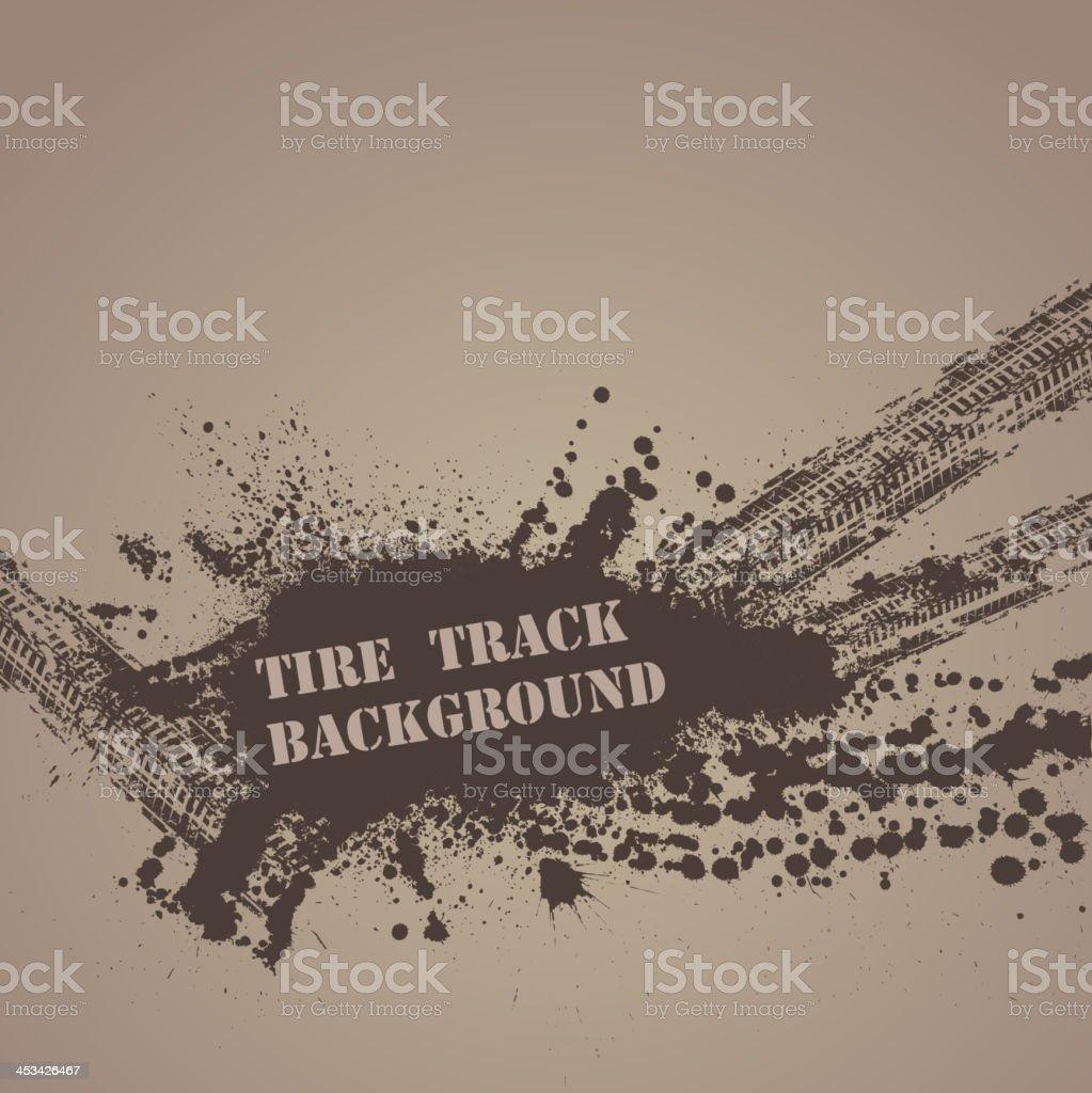 Splotched tire track background graphic vector art illustration