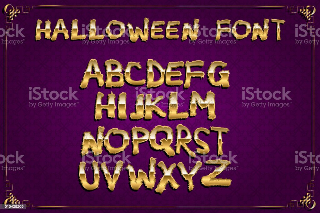 Spooky And Magical Alphabet Set Stock Vector Art 615428206 Istock