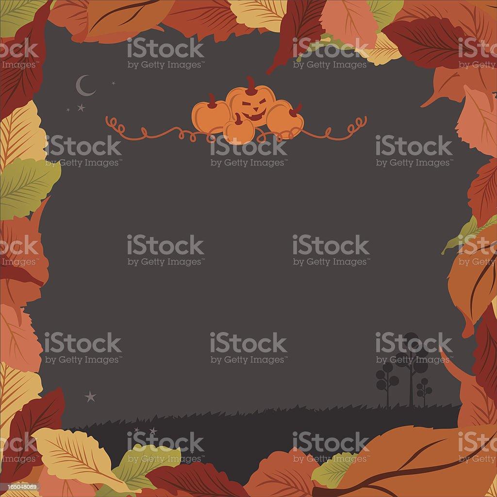 spooky autumn border royalty-free stock vector art