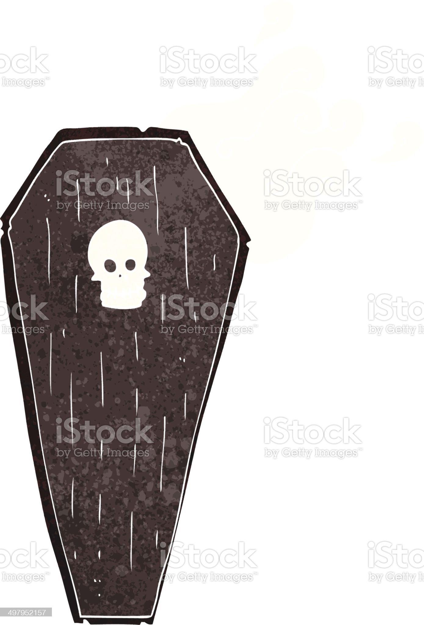spooky cartoon coffin royalty-free stock vector art