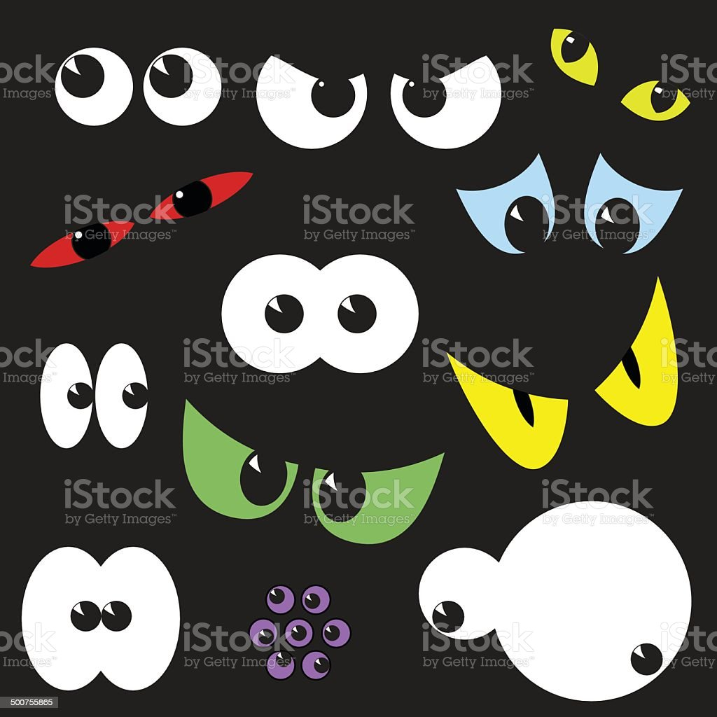 Spooky Eyeballs: Halloween Clip Art Collection. royalty-free stock vector art