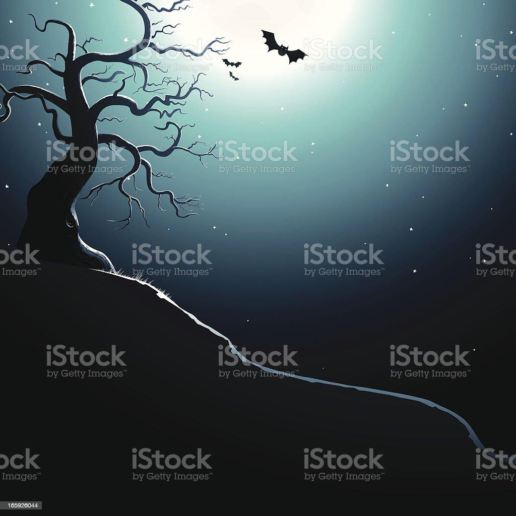 Spooky Hill. EPS8 royalty-free stock vector art