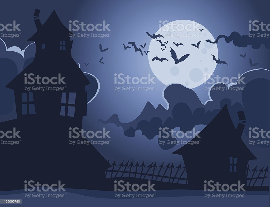 Spooky Houses royalty-free stock vector art