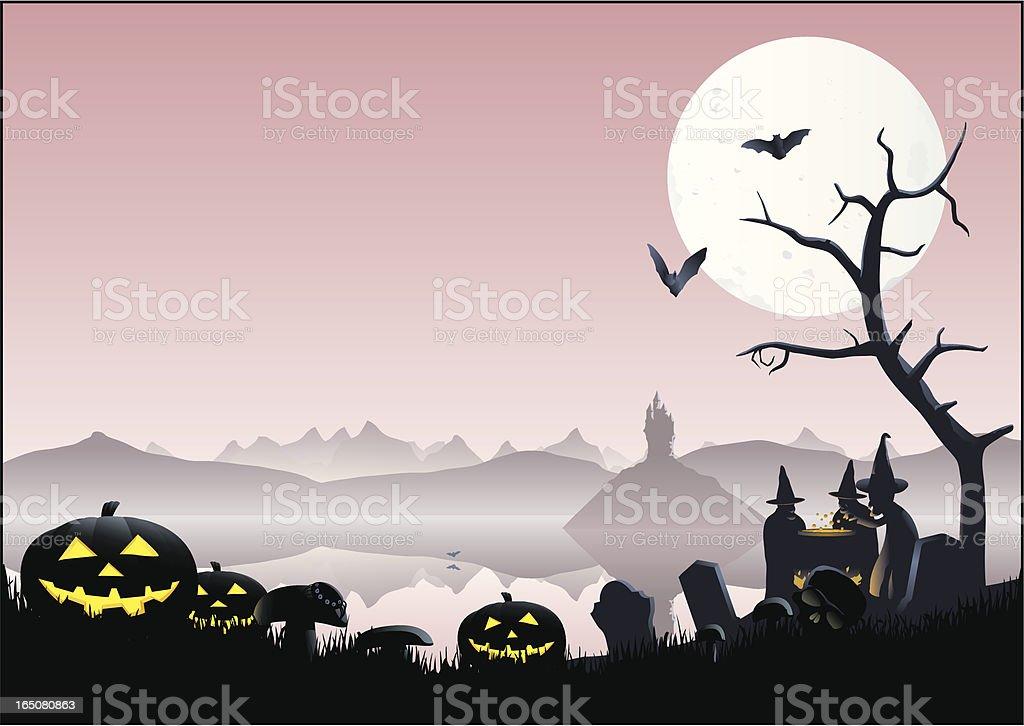 Spooky Lake royalty-free stock vector art