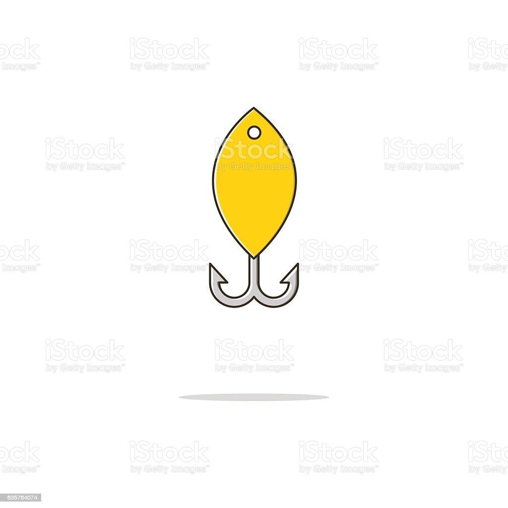 Spoon bait color thin line icon.Vector illustration vector art illustration