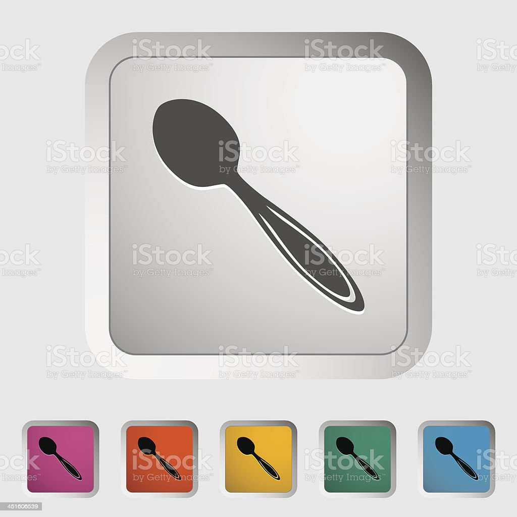 Spoon icon royalty-free stock vector art