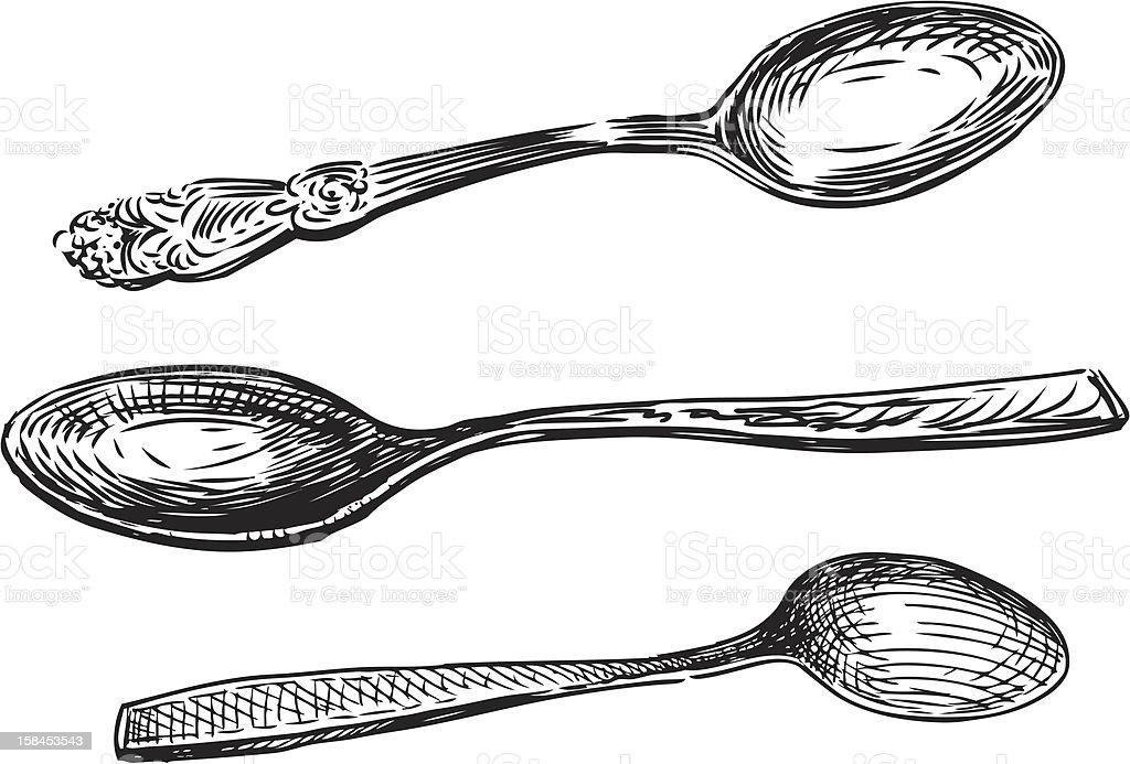 spoons vector art illustration
