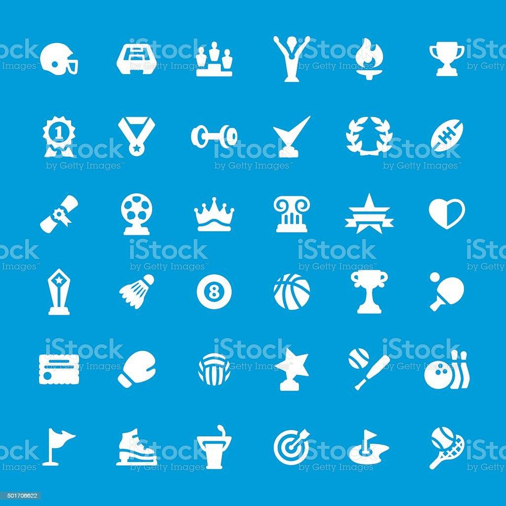 Sport and Award vector icon set vector art illustration