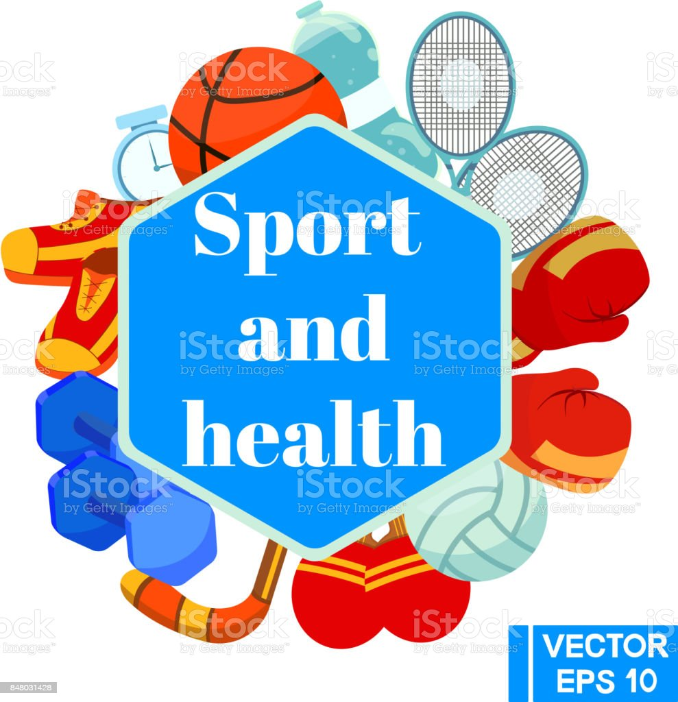 Sport and health vector art illustration